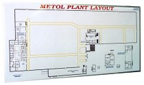 4'x 8' Magnetic Plant Layout Dry Erase Board