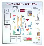 Magnetic Plant Layout White Board