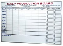 Custom Dry Erase Schedule Board